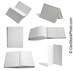 leaflet notebook textbook white bla