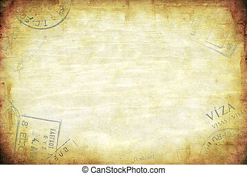 Grunge Travel Background - Grunge background, with passport...