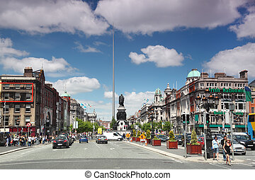 DUBLIN - JUNE 12: Spire of Dublin on June 12, 2010 in Dublin...