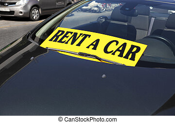 rent a car, car in the parking lot