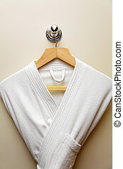 bathrobe - clean bathrobe on the hangers