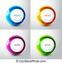 Abstract background - Vector techno circles backgrounds with...