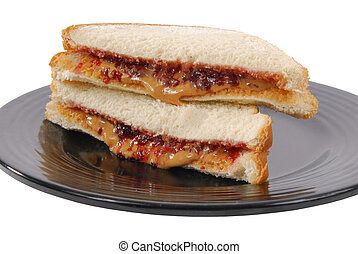 Peanut butter and jelly sandwich - A peanut butter and...