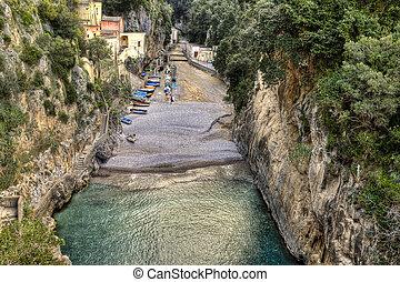 Fiord Furore, Amalfi coast, Italy