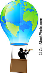 Searching for business opportunity - Businessman in a...