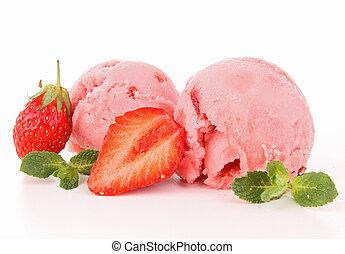 isolated strawberry icecream
