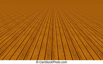 Vertical wooden planks close up view