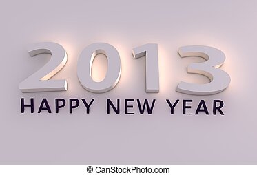 Happy new year 2013  - happy new year 2013 3d render