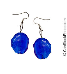 Earrings out of the blue cut-glass