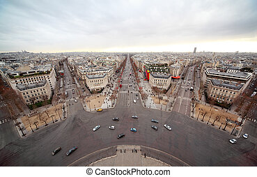 Avenue Marceau, avenue des Champs-Elysees, boulevard...