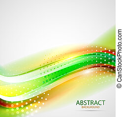Abstract wave background - Abstract vector blurred wave...