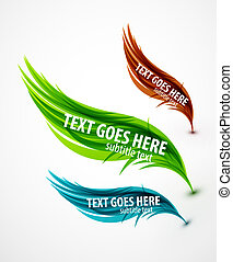 Abstract wave text line - Abstract vector eps10 lines...