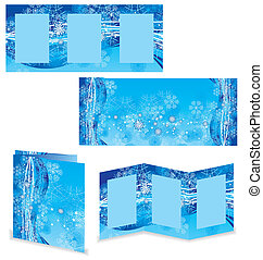 christmas booklet or folder vector image
