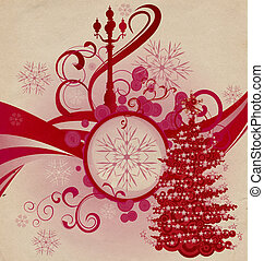 grange abstract christmas wave city lights illustration
