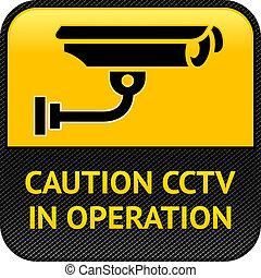 CCTV symbol, pictogram security camera