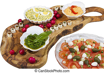 Delicius organic food on olive tree
