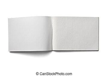 em branco, papel