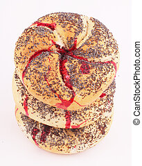 bread rolls - Bread rolls with and traces of blood