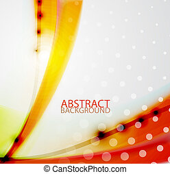 Abstract wave background - Vector eps10 glossy wave lines...