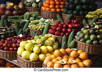 Fruit market in Funchal, Madeira