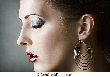 Fashion woman portrait. Make up