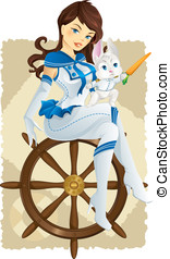 Captain rabbit sailing