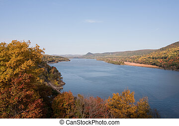 Hudson River - View of the Hudson River looking north from...