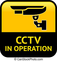 CCTV warning pictogram