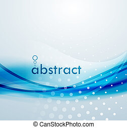 Abstract blue waves background - Vector blur blue wave....