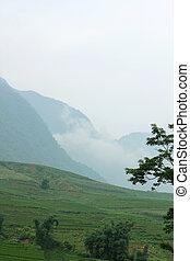Sapa - View of mountain range in Sapa