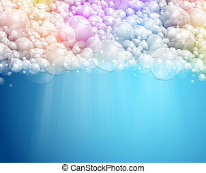 Abstract background with water and foam. Eps 10