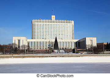 House of Russian Federation Government or White house in...