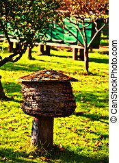 bee house in country place - seasonal bee farm
