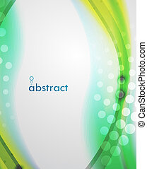Abstract blur wave vector background - Blur green and yellow...