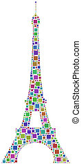 Mosaic of the Eiffel Tower