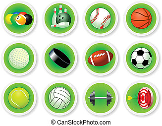 Sport balls icon set, vector illustration