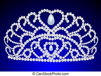 beautiful diadem feminine wedding on we turn blue
