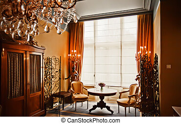 hotel room  - luxury hotel room in classic style