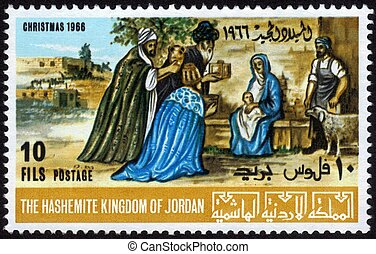 postage stamp of Christmas - the Hashemite Kingdom of Jordan...
