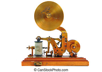 old telegrah isolated on the white background