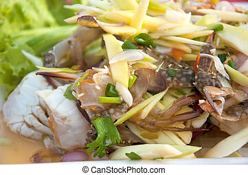 crab salad in thai style - crab as thai style salad in...