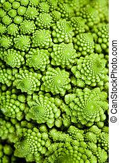 background - broccolo romanesco (Brassica oleracea)