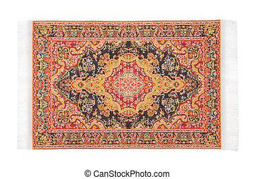 rectangular, naranja, alfombra, horizontalmente, mentiras,...