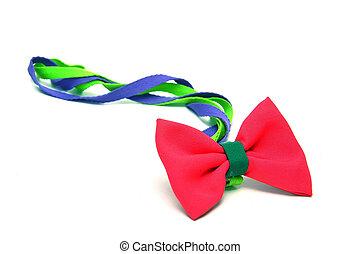 サテン, 赤, 贈り物, 弓