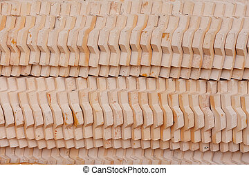 Pattern of the tile roof, which prepared for the Thai church...