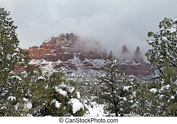 Sedona Snowstorm - a blanket of fresh snow from a snowstorm...