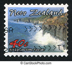 Taranaki - NEW ZEALAND - CIRCA 2002: stamp printed by New...