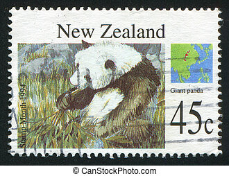 Giant panda - NEW ZEALAND - CIRCA 1994: stamp printed by New...