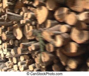 walking imitation logs - walking imitation near stack of...