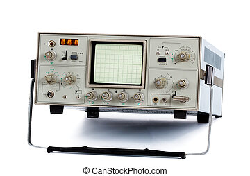 Oscilloscope isolated - Oscilloscope, isolated on a white...